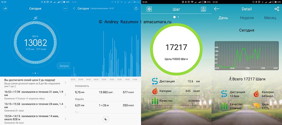 Сравнение Xiaomi Mi Band 1S